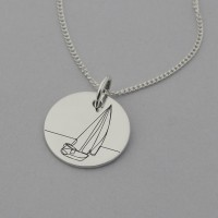 Yacht Necklace with 'I can't direct the wind' but I can adjust the sails' engraved on reverse