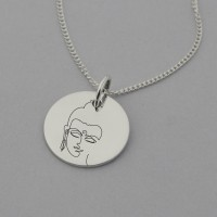 Buddha Necklace with 'What I think I become' engraved on the Reverse