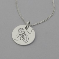 Running Shoe Necklace with 'I CAN' engraved on the back