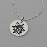 Snowflake Necklace with 'I am Unique' engraved at the back