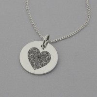 Mandala Heart Necklace with 'I am Loved' engraved on the reverse