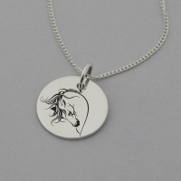 Horse Engraved Necklace
