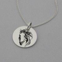 Flowing Mane Horse Necklace