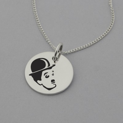 Charlie Chaplin Necklace with 'Life can be Wonderful' Engraved on the Back