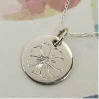 Cosmos of October Birth Flower Pendant