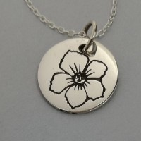 Hawthorn of May Birth Flower Pendant
