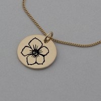 Hawthorn of May Rose Gold Birth Flower Pendant