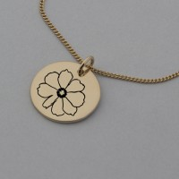Cosmos of October Rose Gold Birth Flower Pendant