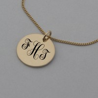 Create your own Monogram Rose Gold Necklace