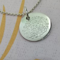 Pincushion Engraved Pendant