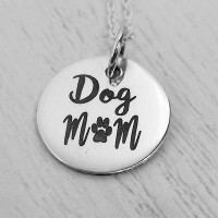 Dog Mom Engraved Necklace