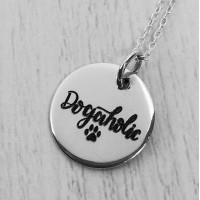 Dogaholic Engraved Necklace