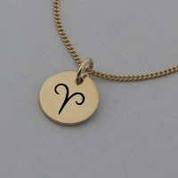 Aries Symbol Rose Gold Necklace