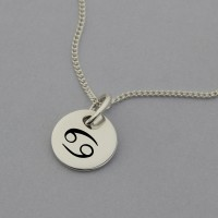 Cancer Symbol Silver Necklace